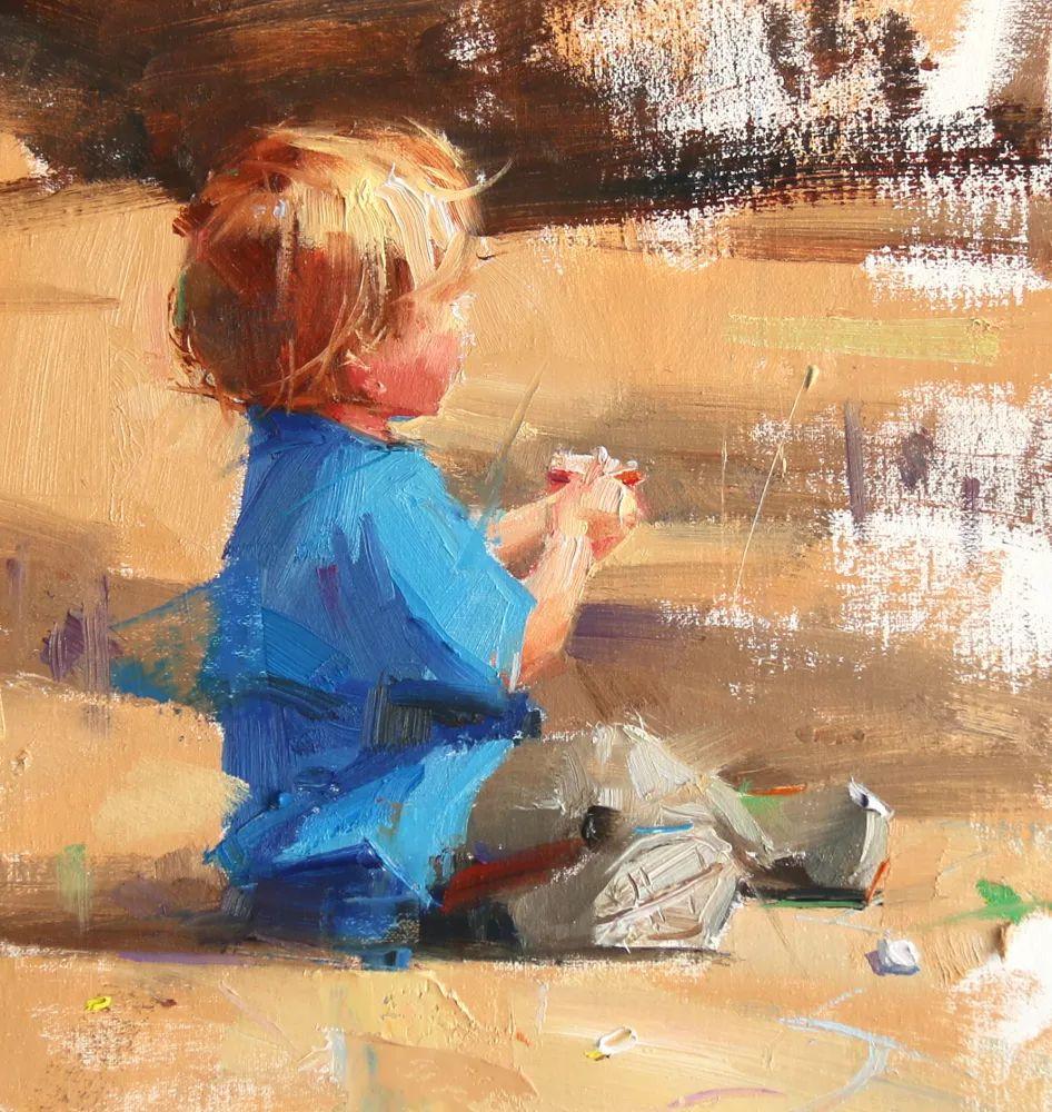 色彩、光感、笔触,表现淋漓尽致!他是物理学家也是职业画家!插图125