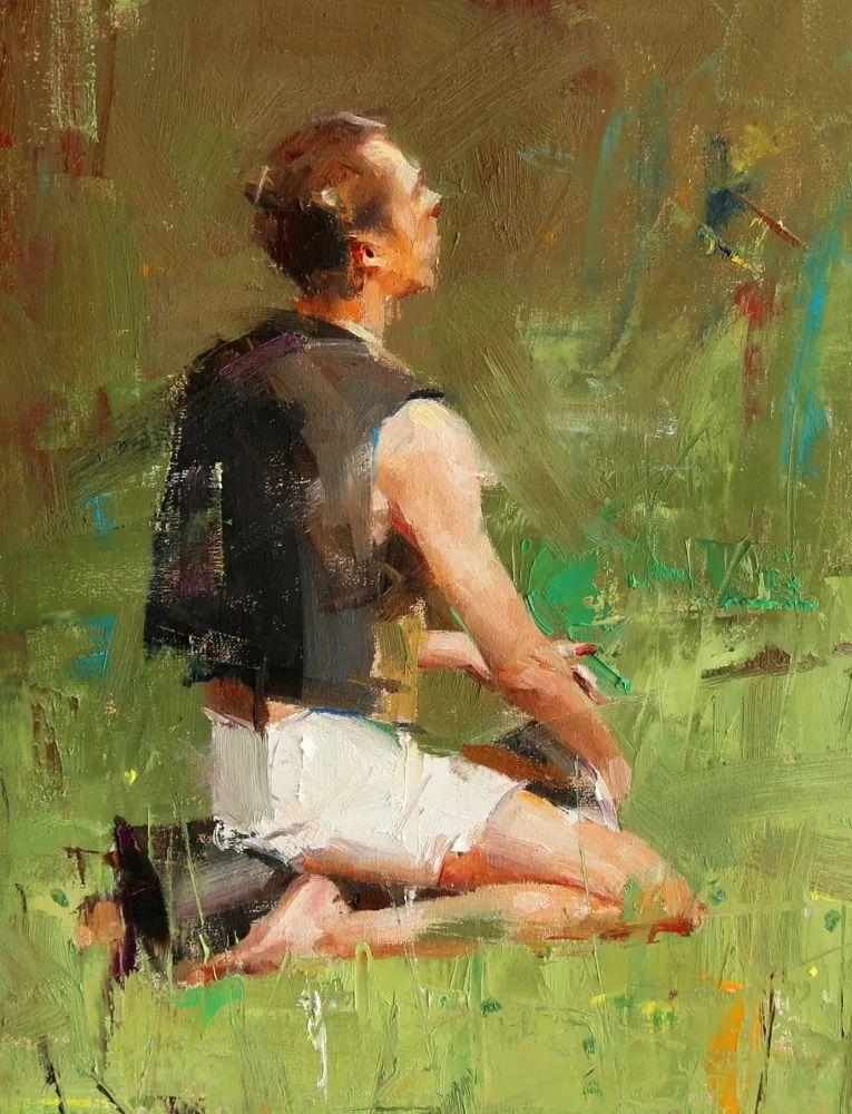 色彩、光感、笔触,表现淋漓尽致!他是物理学家也是职业画家!插图129