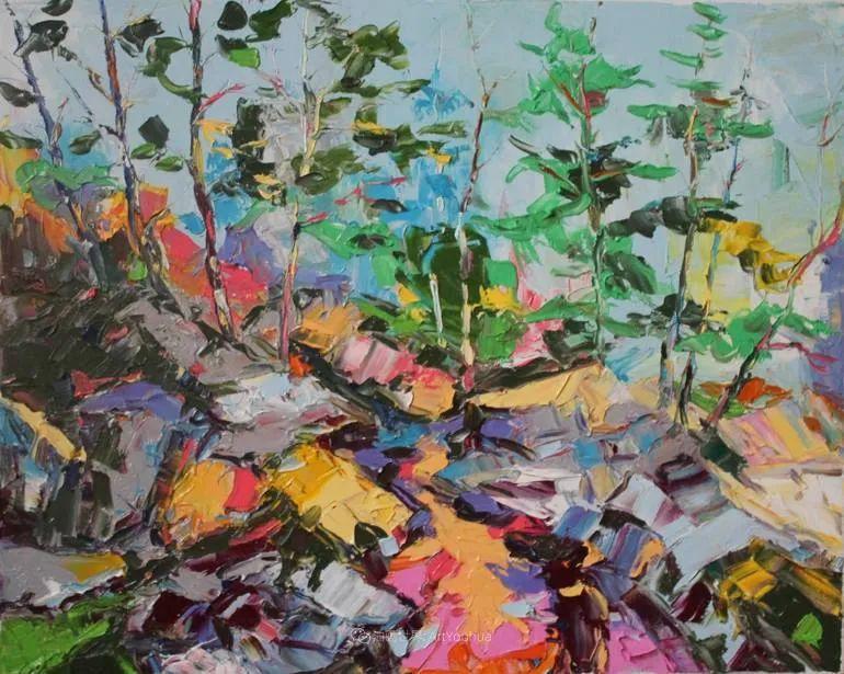 大色块,大笔触,色彩斑斓的大自然!插图70