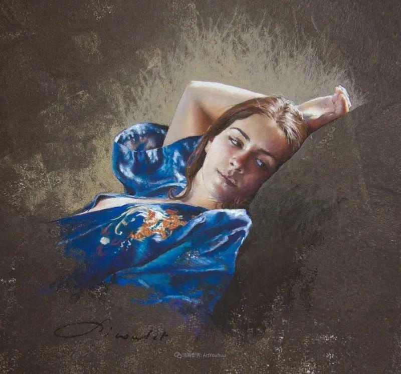 法国女粉彩大师,描绘的女性之美,细腻柔和!插图109