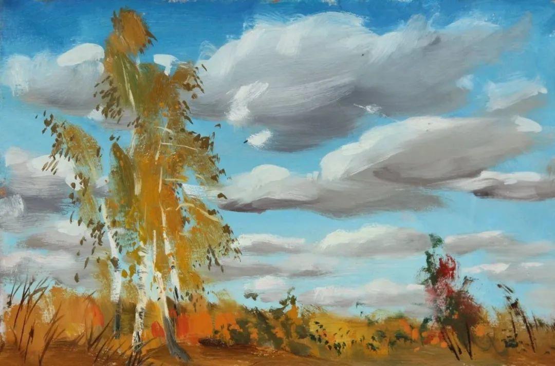 大笔触,美丽的俄罗斯风景画!插图1