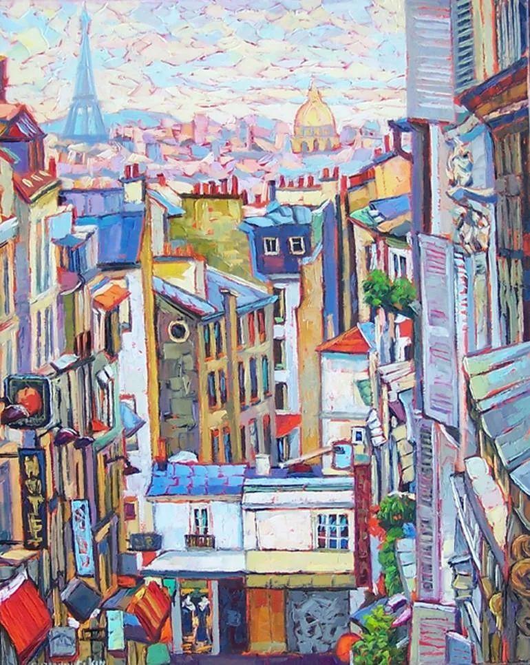 充满活力的色彩,大笔触风景与建筑,!(下)插图5