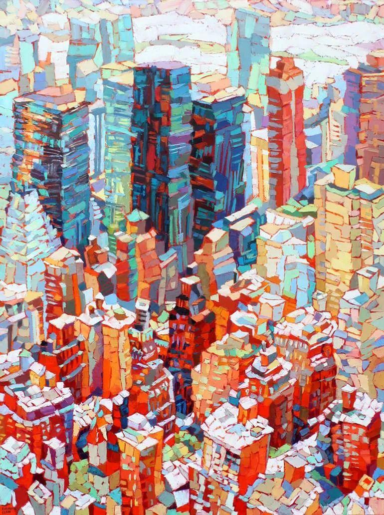 充满活力的色彩,大笔触风景与建筑,!(下)插图7