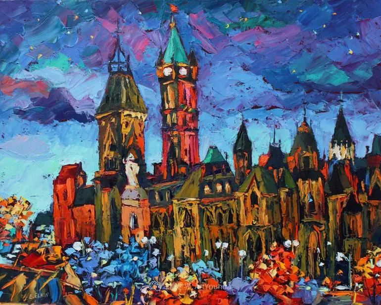 充满活力的色彩,大笔触风景与建筑,!(下)插图19