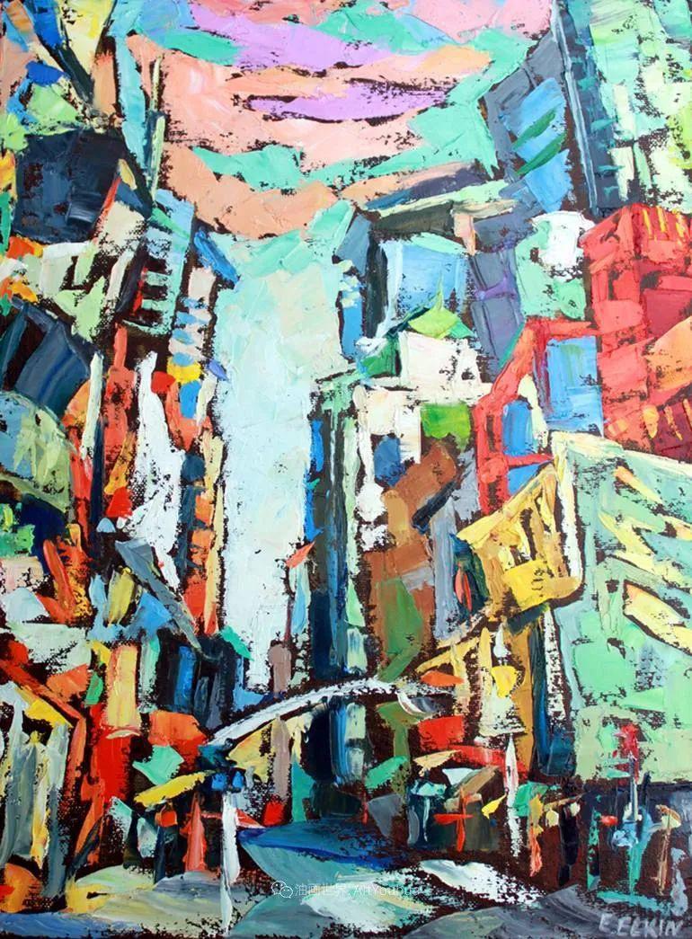 充满活力的色彩,大笔触风景与建筑,!(下)插图37