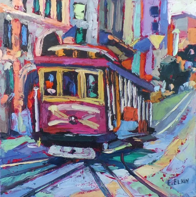 充满活力的色彩,大笔触风景与建筑,!(下)插图43