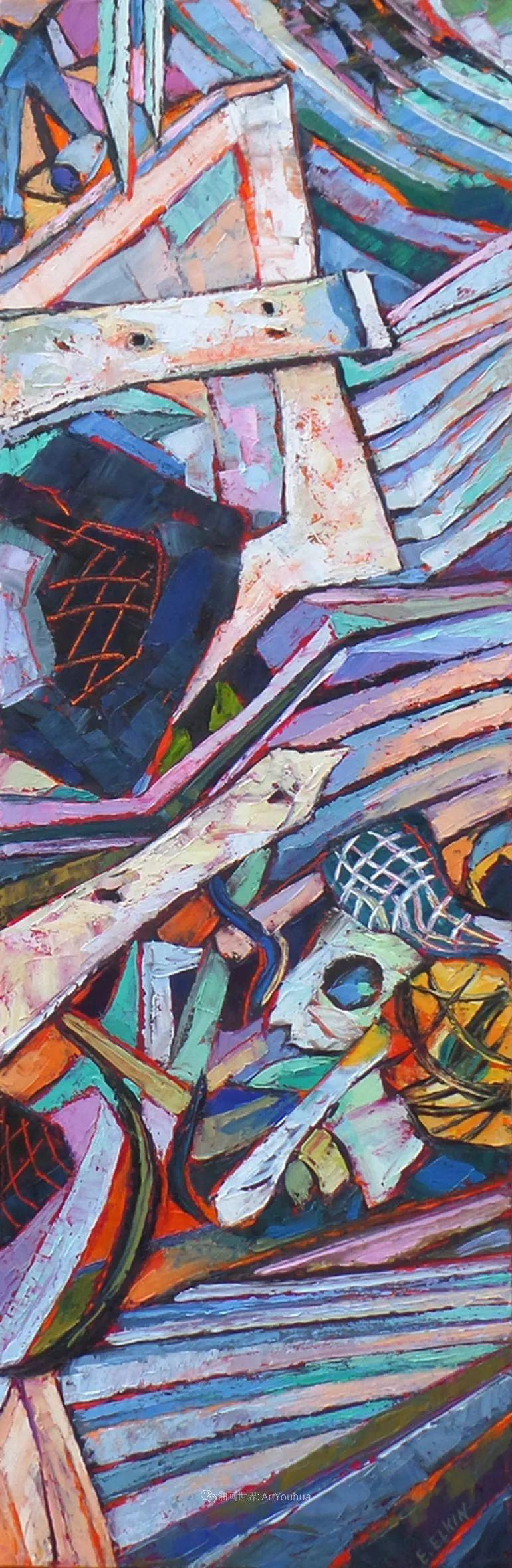 充满活力的色彩,大笔触风景与建筑,!(下)插图47