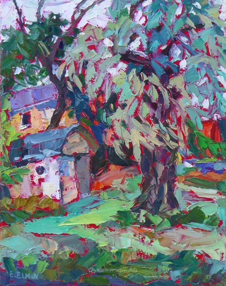 充满活力的色彩,大笔触风景与建筑,!(下)插图51