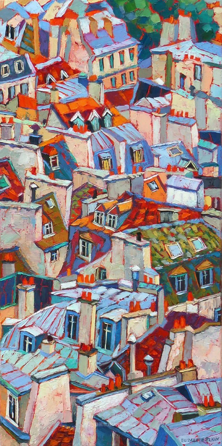 充满活力的色彩,大笔触风景与建筑,!(下)插图57