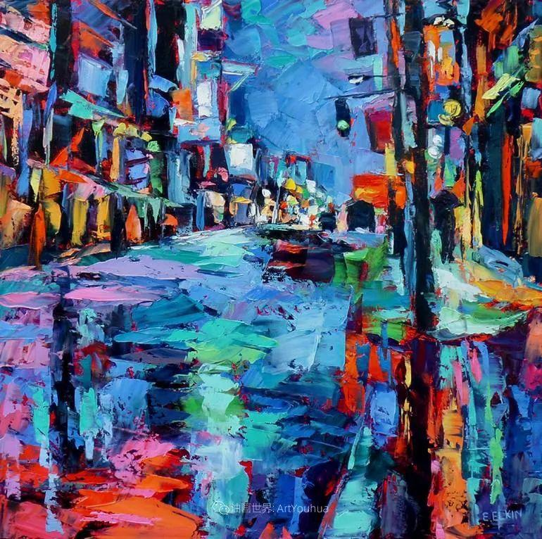充满活力的色彩,大笔触风景与建筑,!(下)插图67