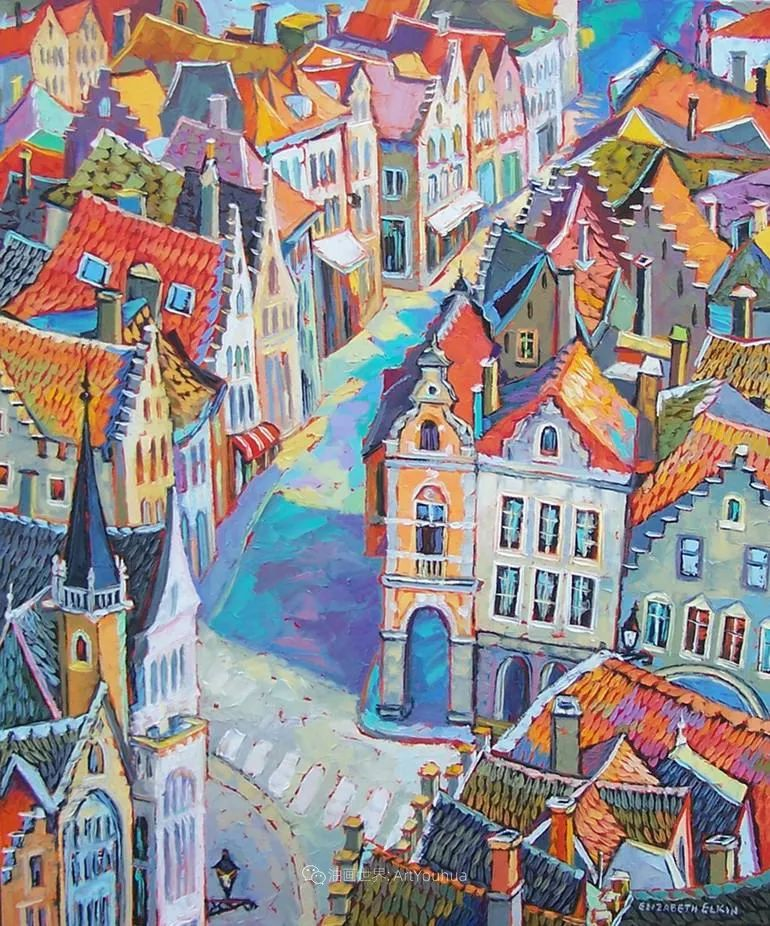 充满活力的色彩,大笔触风景与建筑,!(下)插图79