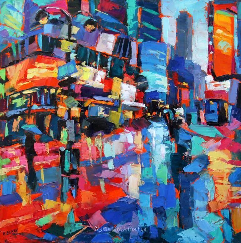 充满活力的色彩,大笔触风景与建筑,!(下)插图85