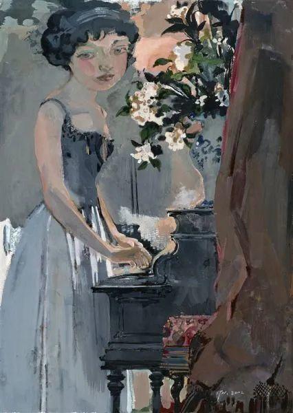 当代女性画家(刘虹 阎萍 喻红 夏俊娜)代表画作插图121