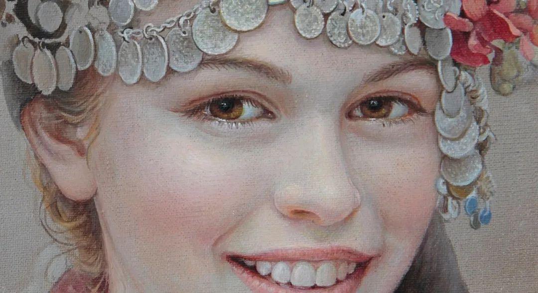 美丽多彩的女性肖像和精美的花朵插图7