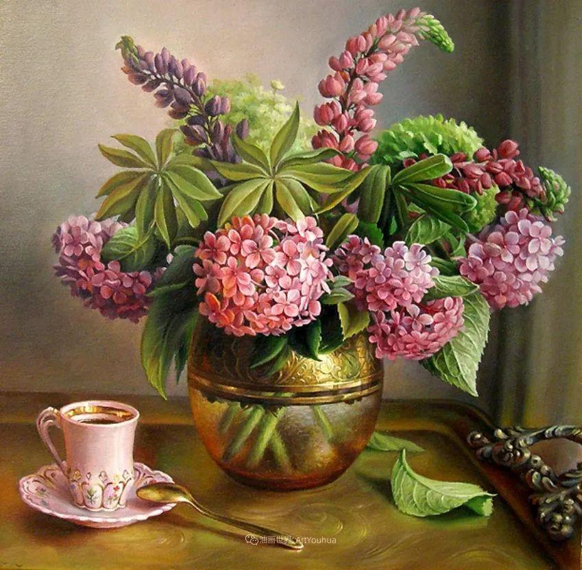 美丽多彩的女性肖像和精美的花朵插图9