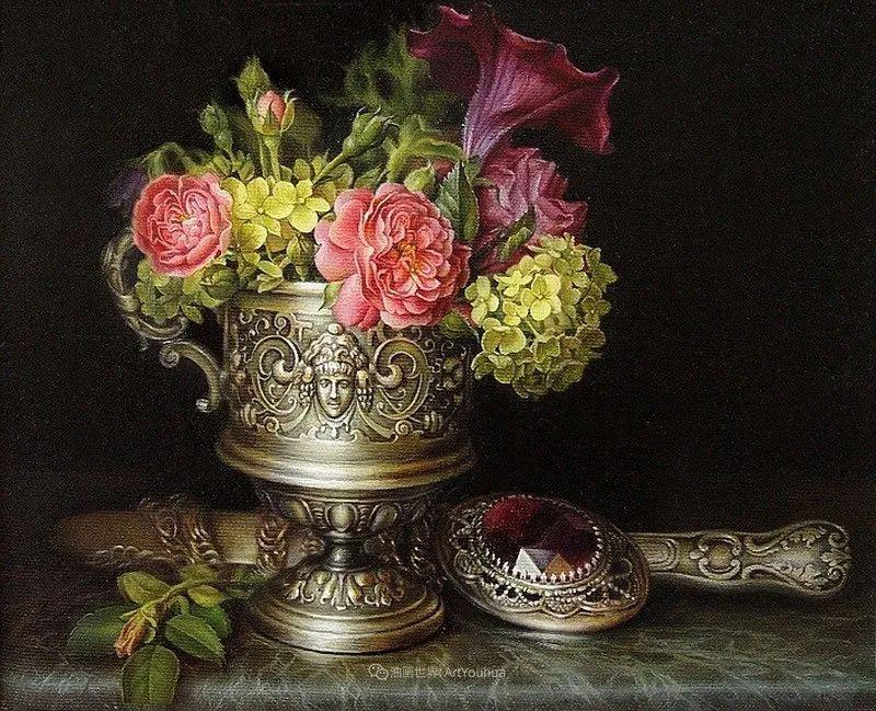美丽多彩的女性肖像和精美的花朵插图11