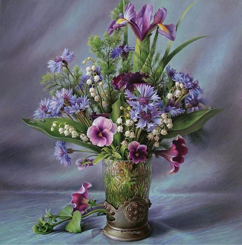美丽多彩的女性肖像和精美的花朵插图13
