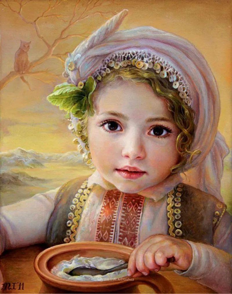 美丽多彩的女性肖像和精美的花朵插图33