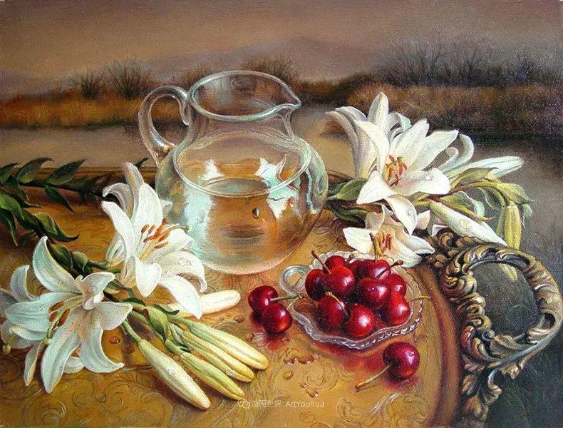 美丽多彩的女性肖像和精美的花朵插图41