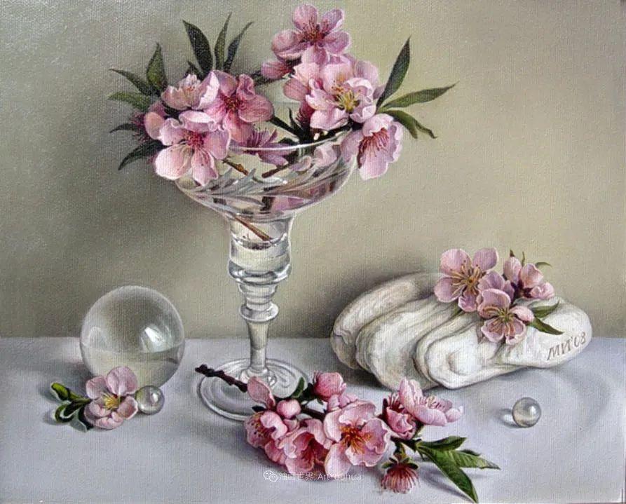 美丽多彩的女性肖像和精美的花朵插图43