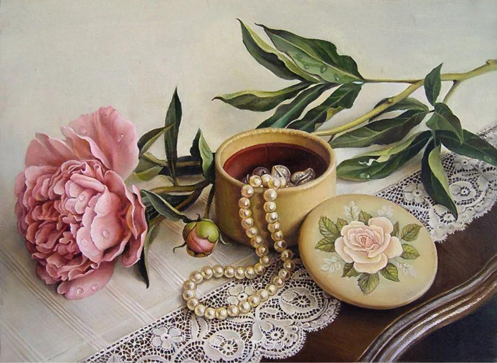 美丽多彩的女性肖像和精美的花朵插图49