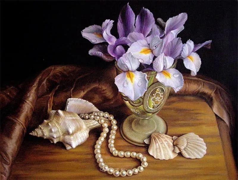 美丽多彩的女性肖像和精美的花朵插图55