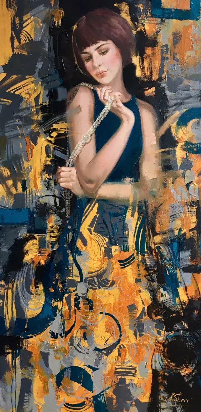 她的油画里,有一种惊艳脱俗的美!插图35