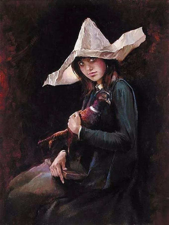 她的油画里,有一种惊艳脱俗的美!插图91