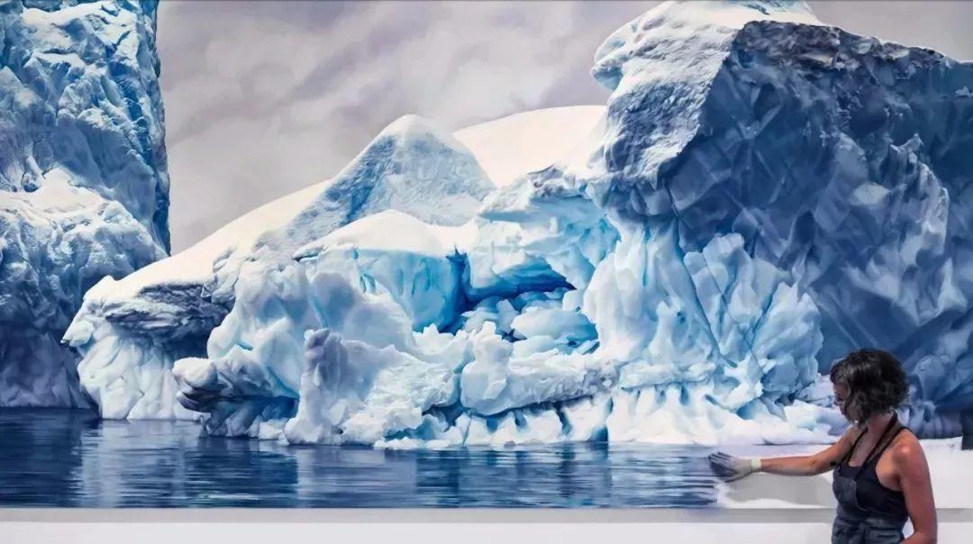 她用手指画出震撼的冰山,俘获上千万粉丝的心插图5