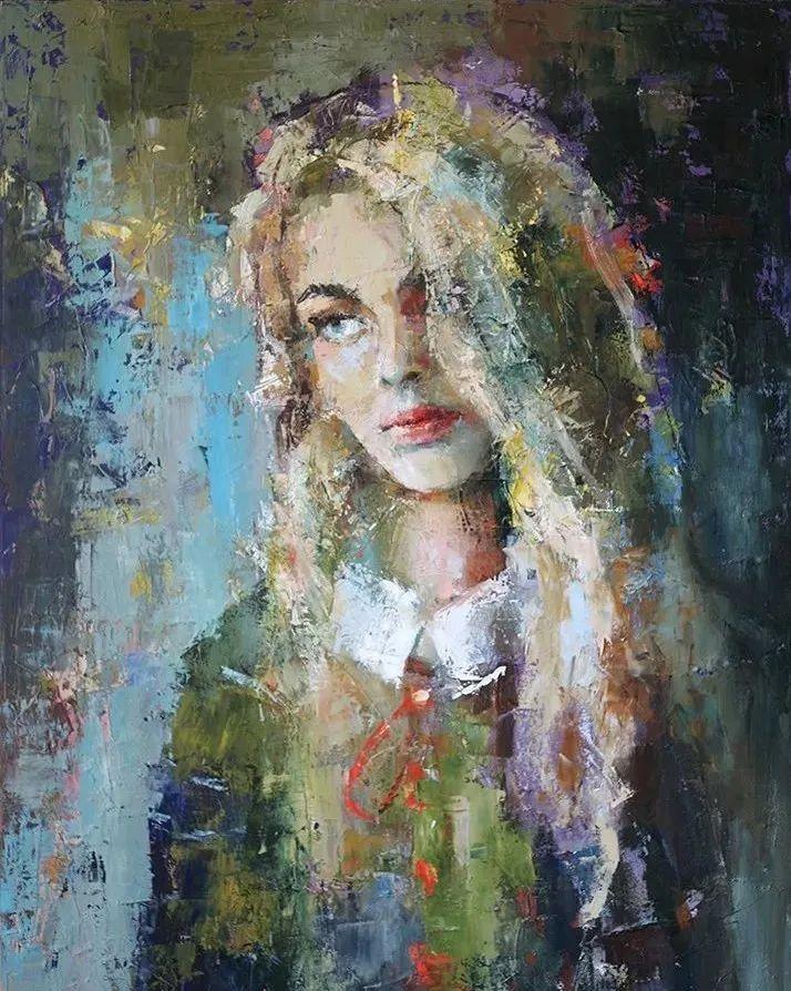 颜色丰富、笔触大胆的肖像画,很乱却很耐看!插图1