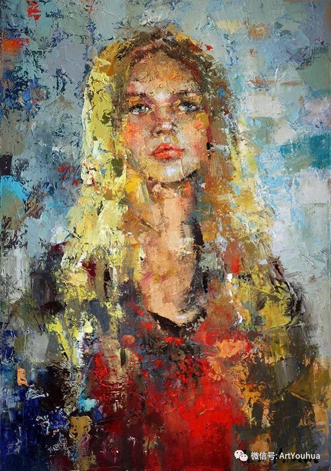 颜色丰富、笔触大胆的肖像画,很乱却很耐看!插图19