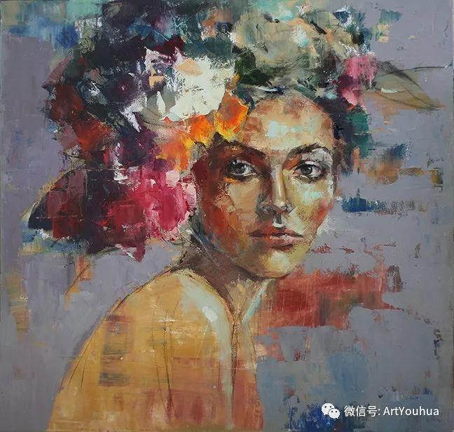 颜色丰富、笔触大胆的肖像画,很乱却很耐看!插图23