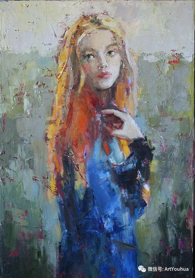 颜色丰富、笔触大胆的肖像画,很乱却很耐看!插图37