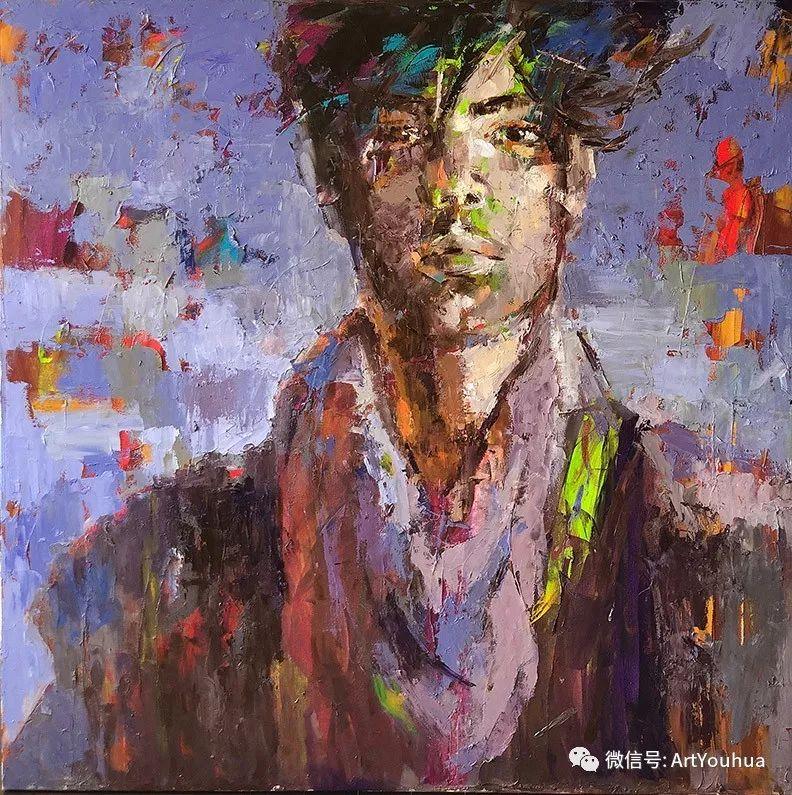 颜色丰富、笔触大胆的肖像画,很乱却很耐看!插图57