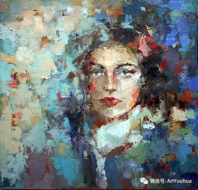 颜色丰富、笔触大胆的肖像画,很乱却很耐看!插图59