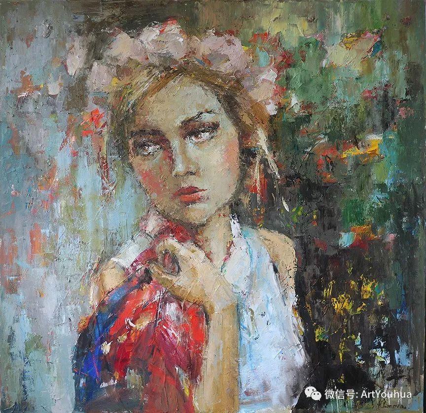 颜色丰富、笔触大胆的肖像画,很乱却很耐看!插图65