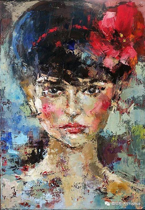 颜色丰富、笔触大胆的肖像画,很乱却很耐看!插图75