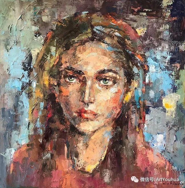 颜色丰富、笔触大胆的肖像画,很乱却很耐看!插图91