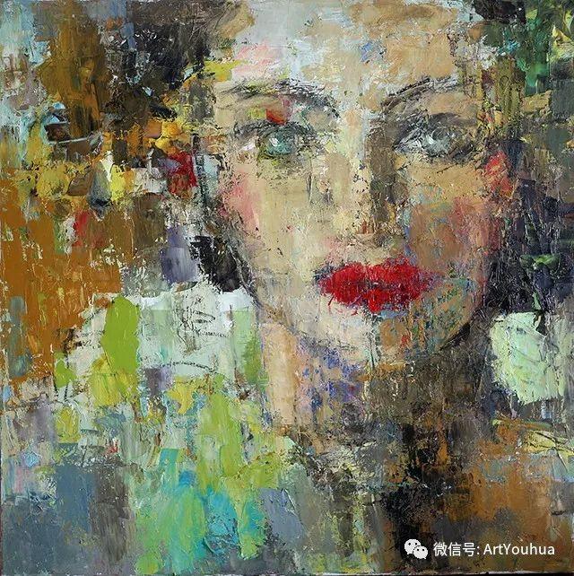 颜色丰富、笔触大胆的肖像画,很乱却很耐看!插图99