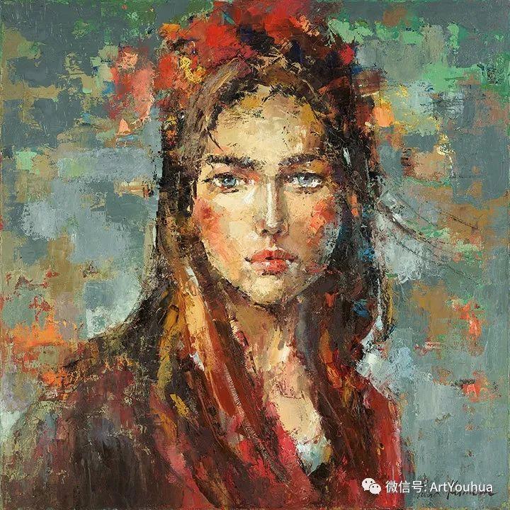 颜色丰富、笔触大胆的肖像画,很乱却很耐看!插图103
