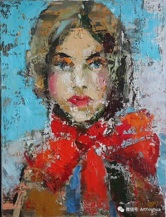 颜色丰富、笔触大胆的肖像画,很乱却很耐看!插图107