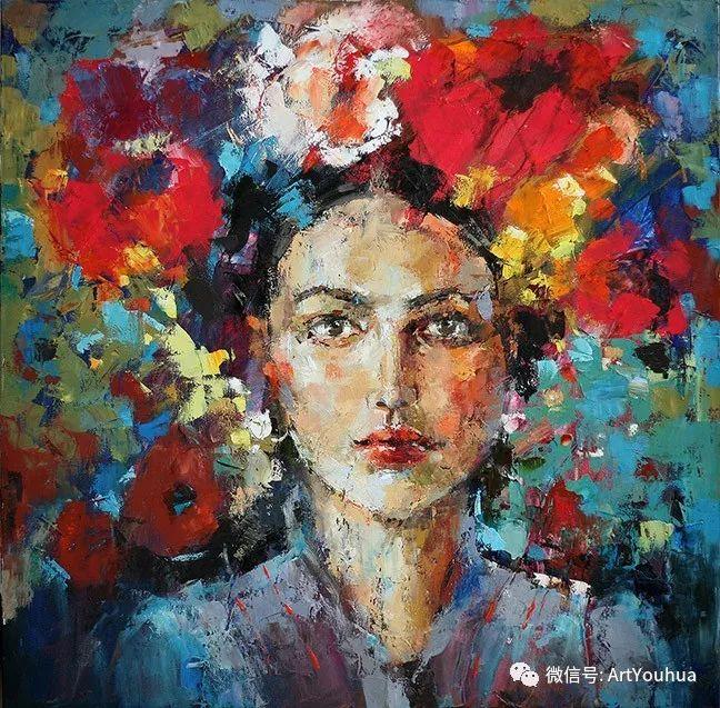 颜色丰富、笔触大胆的肖像画,很乱却很耐看!插图125