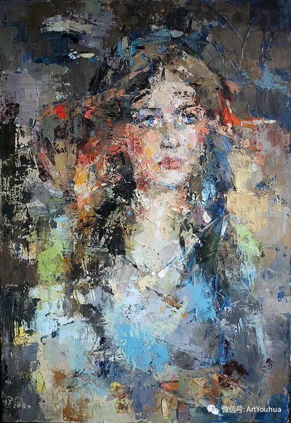 颜色丰富、笔触大胆的肖像画,很乱却很耐看!插图137