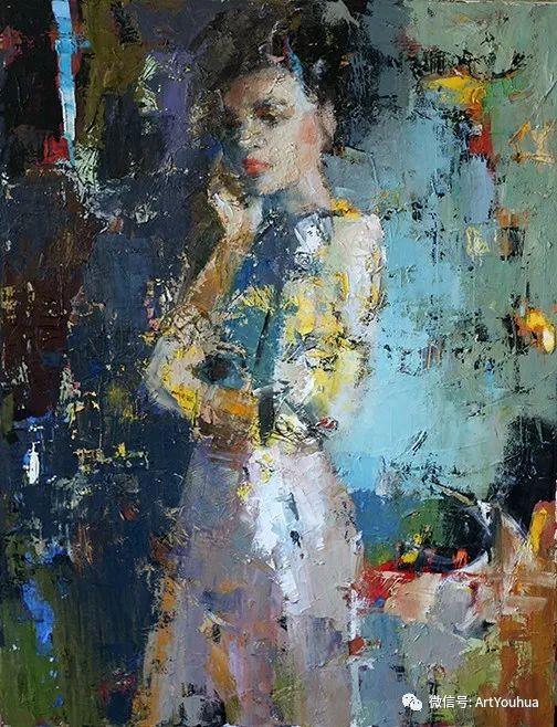 颜色丰富、笔触大胆的肖像画,很乱却很耐看!插图139