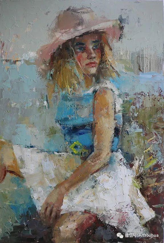 颜色丰富、笔触大胆的肖像画,很乱却很耐看!插图145