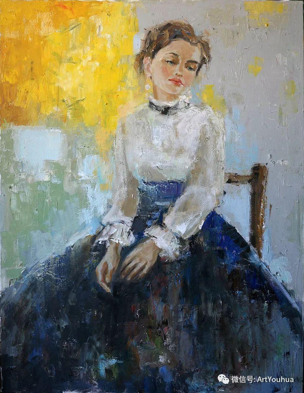颜色丰富、笔触大胆的肖像画,很乱却很耐看!插图147