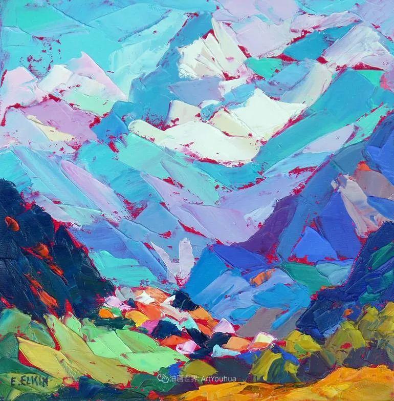 色彩缤纷,大笔触的风景与建筑,充满活力!插图7