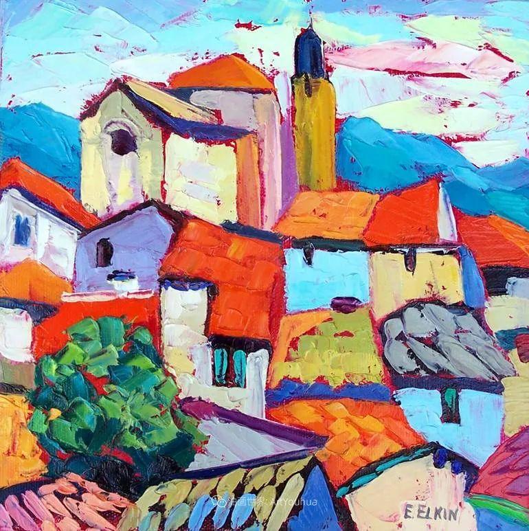 色彩缤纷,大笔触的风景与建筑,充满活力!插图9