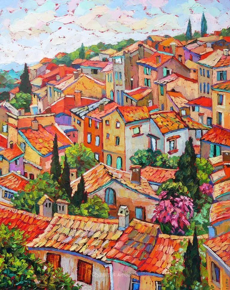 色彩缤纷,大笔触的风景与建筑,充满活力!插图13