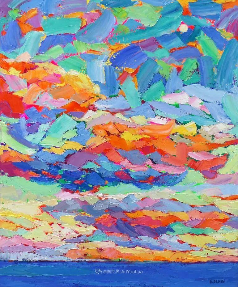 色彩缤纷,大笔触的风景与建筑,充满活力!插图25